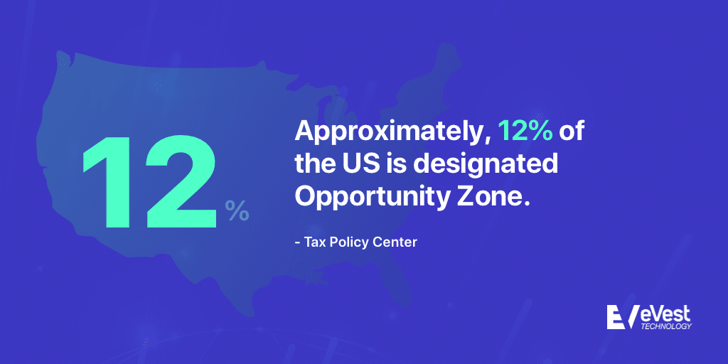 12% of the US is an Opportunity Zone