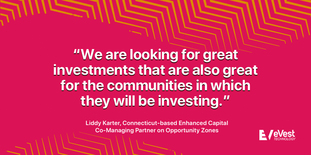 Liddy Karter quotation about Opportunity Zones in Connecticut