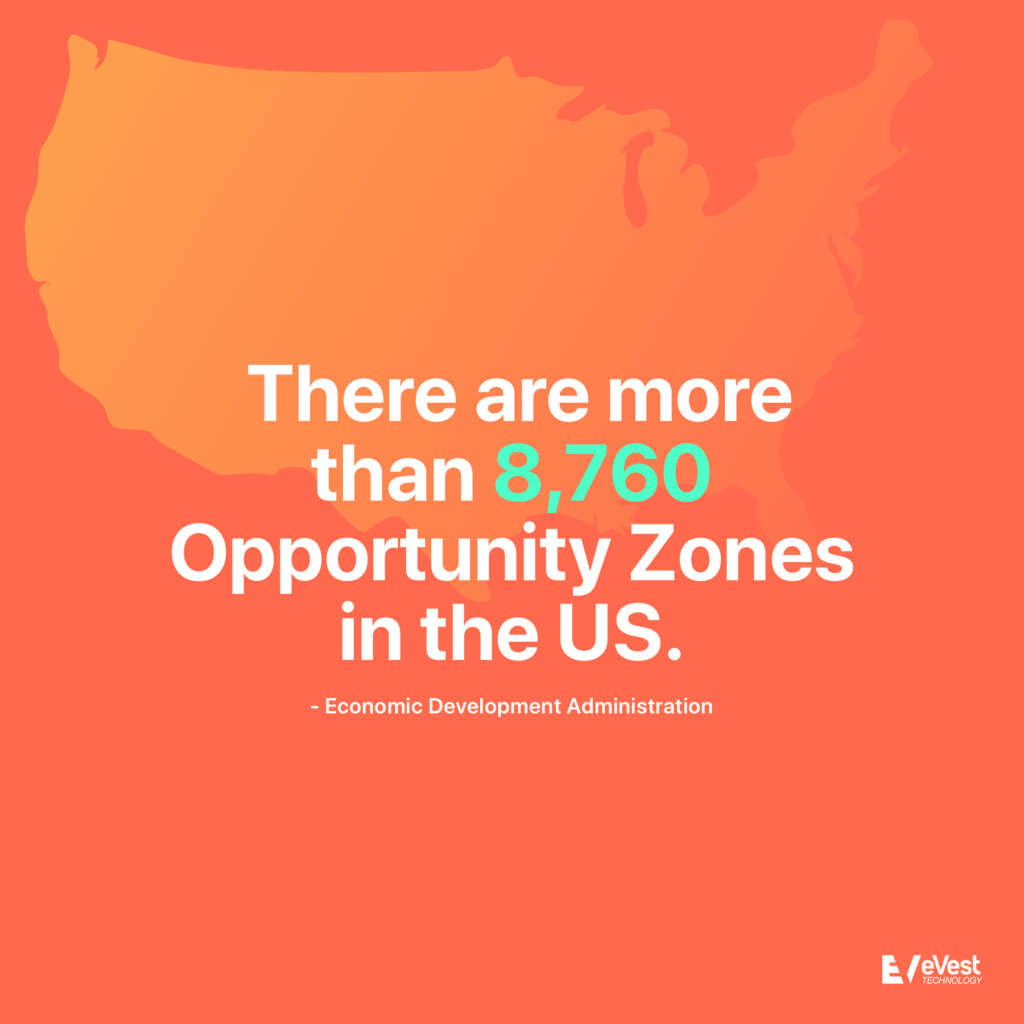There are more than 8,760 Opportunity Zones in the US