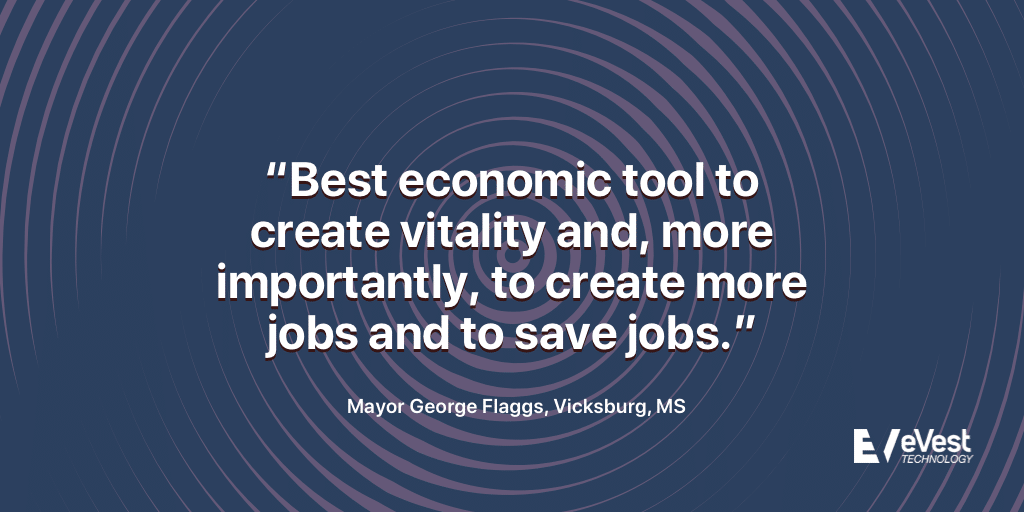 Mayor George Flaggs quotation about Opportunity Zones in Mississippi